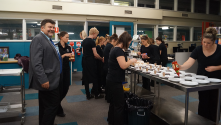 Students Catering at the 2016 Changeover